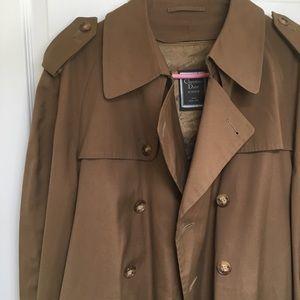 Vintage Christian Dior Monsieur trench coat sz 44L